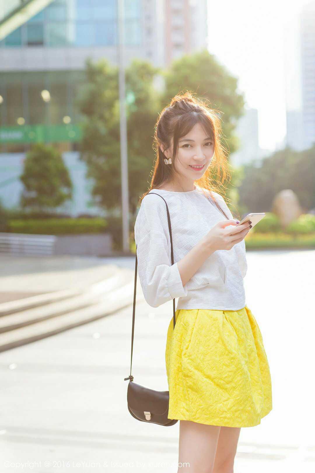 街拍小清新女神楚琪kiki写真超高清图片